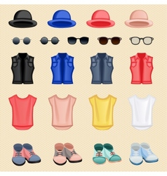 Hipster girl accessories vector image