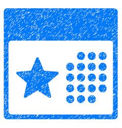 Holiday calendar grunge icon vector