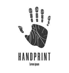 human palm handprint icon logo emblem vector image