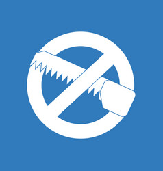 Icon no saws vector