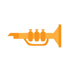 Isolated trumpet toy vector