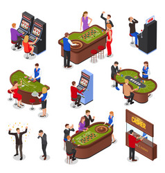 isometric casino set vector image