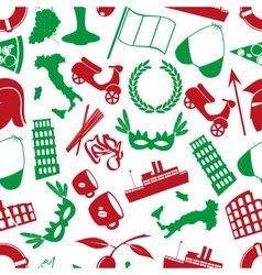 Italy country theme various icons seamless pattern vector