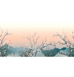 Japan landscape vector