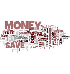 Learn to save money text background word cloud vector