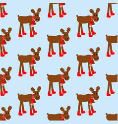 Moose seamless pattern vector