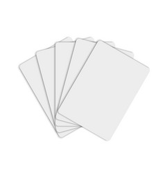 paper cards mockup vector image