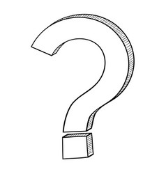 question mark hand drawn sketch vector image