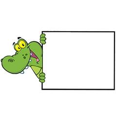 Royalty Free RF Clipart Happy Crocodile Looking vector image