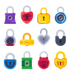 safety mechanical lock safe key padlock golden vector image