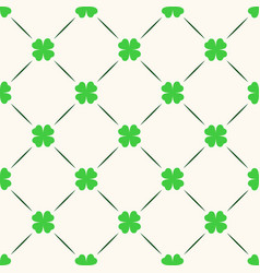 saint patrick day seamless pattern vector image