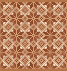 Scandinavian knitted seamless pattern winter vector