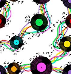 Seamless pattern of vinyl vector