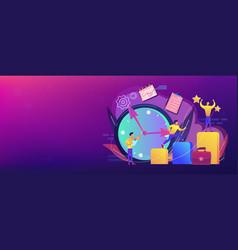 self management concept banner header vector image