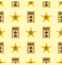 shefiff badge star american western authority vector image