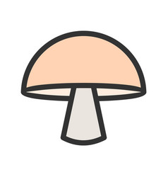Single mushroom vector