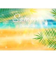 Summer calligraphic design vector image