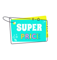 super price big sale 20 off sticker in flat style vector image