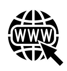 symbol of the internet globe and cursor vector image