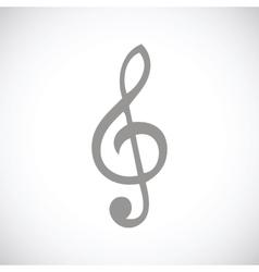 Treble clef black icon vector
