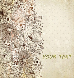 Valentines Background with Floral Pattern vector