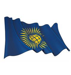 Waving flag british commonwealth vector