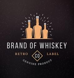 Whiskey Bottles Vintage Retro Design Elements for vector