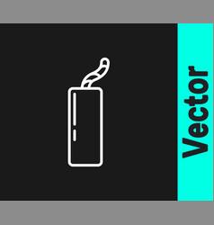 white line detonate dynamite bomb stick and timer vector image