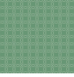 White Vintage Graphic On Green Background Seamless vector image