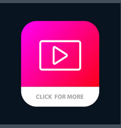 Youtube paly video player mobile app button vector