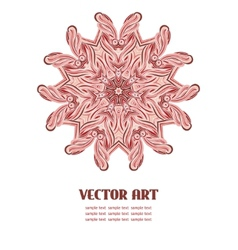 Abstract lace design vector image