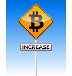 Bitcoin traffic board vector image vector image