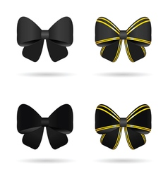 bow in black and gold vector image vector image