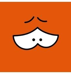 cartoon eyes Orange Eps10 vector image