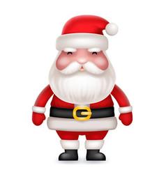 cute 3d realistic cartoon santa claus toy vector image vector image