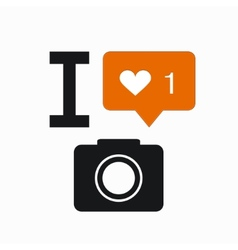 modern like orange icon on white vector image vector image