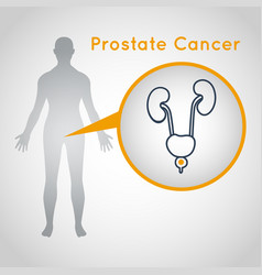 Prostate cancer logo icon vector