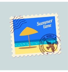 summertime holidays postmark vector image vector image