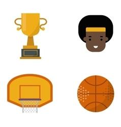 Basketball set vector image vector image