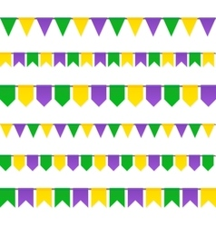Carnival flags set isolated on white background vector image