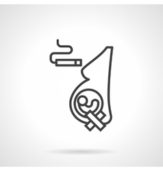 Harm of smoking for pregnancy line icon vector image vector image