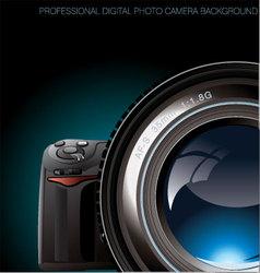 professional digital photo camera background vector image vector image