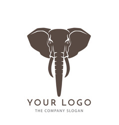 elephant sign logo emblem -01 vector image