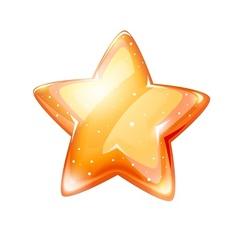 magic gold glossy star vector image