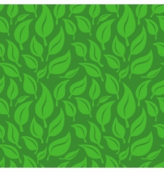 seamless background with green leaves vector image