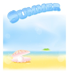 summer pink pearl vector image vector image