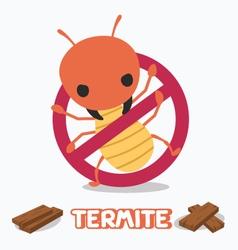 Anti termite cartoon vector