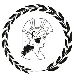 Decorative logo with the ancient Greek warrior vector image