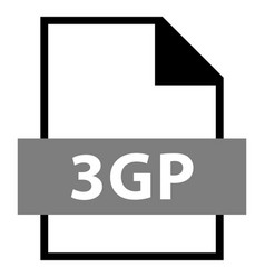 file name extension 3gp type vector image vector image