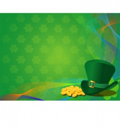 St Patrick's day background vector image vector image